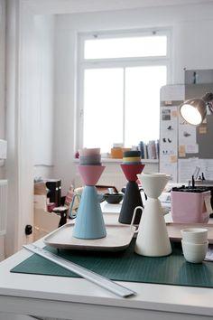 sucabaruca coffee set / designed by luca nichetto and lera moiseeva / in conjunction with alissa coe (ceramics), adrian kuzyk (wood), scott eunson (art) / commissioned by mjölk (toronto) / (via)