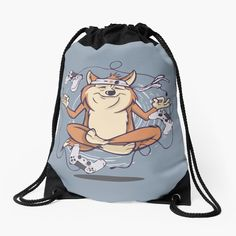 Dog Games, Drawstring Backpack, Meditation, My Arts, Backpacks, Art Prints, Space, Printed, Awesome