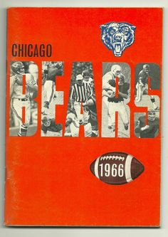 1966 Chicago Bears Football Media Roster Guide DICK BUTKUS GALE SAYERS