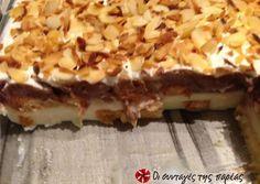 Greek Sweets, Greek Desserts, Summer Desserts, Greek Recipes, Desert Recipes, No Bake Desserts, Sweets Cake, Cupcake Cakes, Chocolate Chip Cookies
