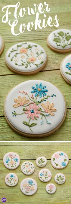 Every mom loves homemade cookies, and with these lovely Spring Mother's Day Cookies, you'll be able to show mom your amazing decorating skills on a floral arrangement she's sure to love! Stripe your decorating bags with shades of the same color icing to create a lovely stripe effect on your flowers that makes them look like they were plucked right from the garden!