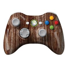XBOX 360 controller Wireless Glossy WTP-179-Wood-Grain Custom Painted- Without Mods