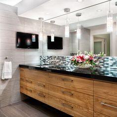 Bathroom Walnut And Black Granite Bathroom Design Ideas, Pictures, Remodel, and Decor