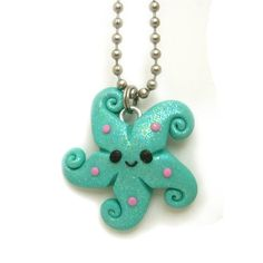polymer clay Starfish necklace