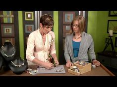 ▶ 1913-3 Candie Cooper makes wire wrapped focal beads for a necklace on Beads, Baubles & Jewels - YouTube