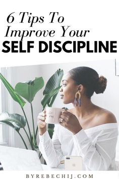 6 Tips to improve Self-Discipline. How to be more self-disciplined, productive and succesful person. Mastering self-discipline makes the difference between struggling on your way to a successful life or getting there easy, painless and fast. Wellness Tips, Health And Wellness, Mental Health, Self Development, Personal Development, Change Your Mindset, Self Discipline, Self Improvement Tips, Mindful Living