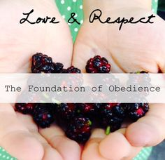 Love and Respect: The Foundation of Obedience