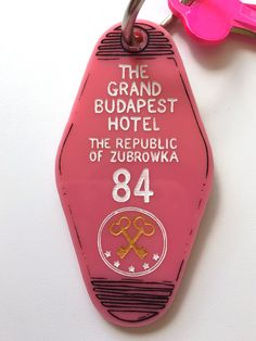 The Grand Budapest Hotel Hotel Room Key Ring by HungryDesigns