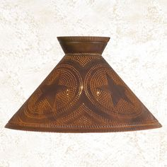 Betsy Ross punched tin lamp shade.