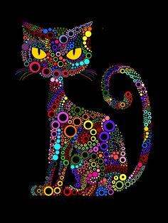 Art Fantaisiste, Dot Art Painting, Mandala Art, Animal Drawings, Art Drawings, Art Rupestre, Architecture Art Design, Cat Quilt, Whimsical Art
