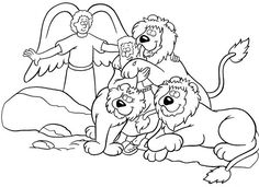 some excellent coloring pages of bible heroes | kids church ... - Bible Story Coloring Pages Daniel
