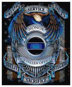 Police Tribute Cross Stitch PDF Needlework Pattern  DIY