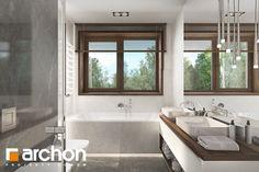 Projekt domu Willa Miranda (G2) - ARCHON+ Corner Bathtub, Bathroom, Architecture, House, Washroom, Arquitetura, Corner Tub, Bathrooms, Haus