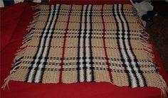 Burberry Baby Blanket :: free plaid crochet pattern!                                                                                                                                                                                 More