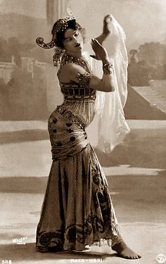 Original caption: Mata Hari in her dancing costume.  Undated photograph.