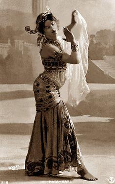 Original caption: Mata Hari in her dancing costume.  Undated photograph.