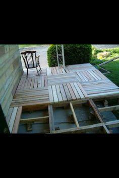 Cheap idea for a deck ,