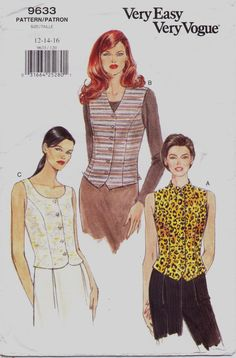 90s Very Easy Very Vogue Pattern 9633 Womens Set of by CloesCloset, $10.00