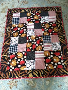 Your place to buy and sell all things handmade Baseball Fabric, Baseball Quilt, Baseball Mom, Little Sport, Red Flannel, Hand Sewn, Snuggles, Baby Quilts, Making Out