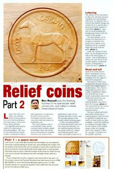 #657 Relief Coins - Relief Carving Patterns - Wood Carving Patterns and Techniques
