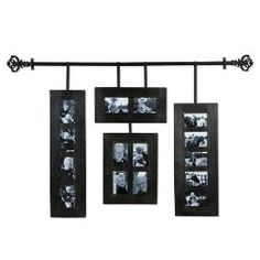 Product Image Hanging Collage Frames with Decorative Iron Rod