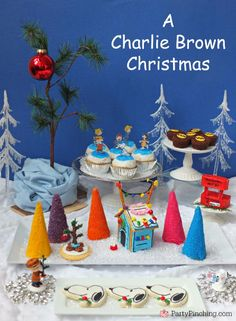 Charlie Brown Christmas Party by PartyPinching.com