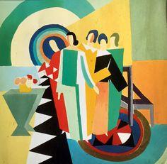 Sonia Delaunay watercolor 1924