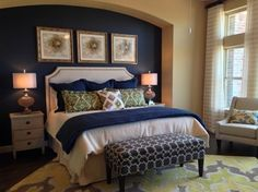 Dark Blue Master Bedroom must-see: pardee homes' responsive home project for millennial