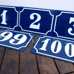 French Enamel House Numbers - Pardon My French