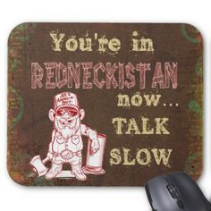 Redneckistan Mouse Pad - red gifts color style cyo diy personalize unique