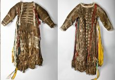 Front and back of a Tofalar female shaman's coat from the Peter the Great Museum of Anthropology and Ethnography, Russia