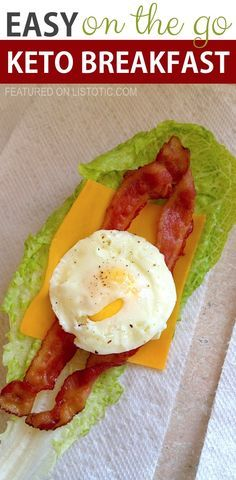 Easy On The Go Keto Breakfast Wrap | These easy low carb and keto breakfast recipe ideas are perfect to make ahead of time, and simply grab for on the go! Meal prep can be a life saver! Eating healthy has never been so easy with these time-saving tips and tricks. Everything from casseroles to muffins! They're perfect for a ketogenic diet. Listotic.com