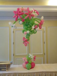 Buds & Blooms, flower topiary, with latex balloons