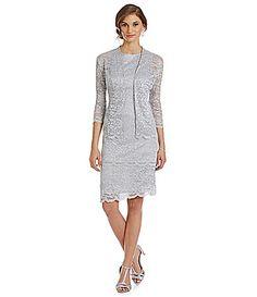 a01a88b3910 Alex Evenings Tiered Glitter Lace Jacket Dress  Dillards Mom Dress