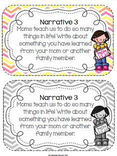 Mother's Day Narrative Writing Prompt Freebie!