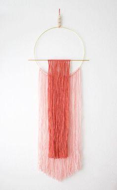 DIY Modern Yarn Wall Hanging
