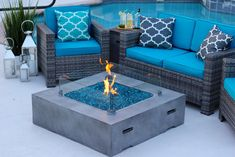 Lots of outdoor fire-pits, fireplaces, and patio heaters for your dream home an outdoor space presented in our outdoor fire-pit gallery. Buy outdoor fire-pits and get outside in our own back yard or camp the National parks. Gas Fire Pit Table, Diy Fire Pit, Fire Pit Backyard, Pool Backyard, Backyard Paradise, Outside Fire Pits, Fire Pit Materials, Fire Pit Ring, Concrete Fire Pits