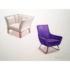 #sketch #sketchbook #sketching #drawing #draw #furniture #design #armchair #marker #render #handrender #copic просто пара удобных кресел)