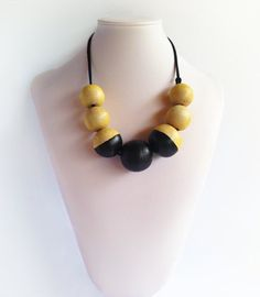 Arti Short - Wooden Ball A$34.95 Ball Necklace, Beaded Necklace, Bali, Artisan, Collection, Jewelry, Style, Fashion, Beaded Collar