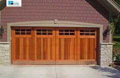 Custom Garage Doors with Wood