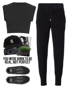 """- You're not born to be perfect don't worry -"" by lolgenie ❤ liked on Polyvore featuring Givenchy, Lux-Art Silks, Victoria, Victoria Beckham and Vans"