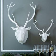 Papier-Mâché Animal Sculptures - Reindeer #westelm