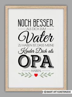 """""""BESTER OPA"""" Kunstdruck, Vatertag Geschenk von Smart-Art Kunstdrucke auf DaWanda.com"""