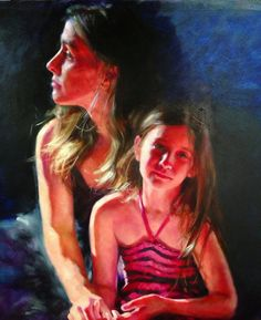 Self Portrait With Daughter by Kristina Laurendi Havens (Mother - Daughter Portrait)