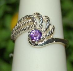 Purple Amethyst Swirling Sterling Silver Ring by WindstoneDesigns, $34.95