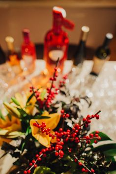 Allen & Overy St. Martins Day gourmet night - Budapest, 2015 Allen & Overy, Flower Decorations, Flowers, Red, Gourmet, Floral Decorations, Floral Headdress, Royal Icing Flowers, Flower