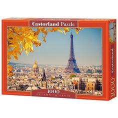 Ősz Párizsban 1000db-os puzzle - Castorland Puzzles, Paris Skyline, Taj Mahal, Travel, Unique, Creative Crafts, Fall, Human Height, Voyage