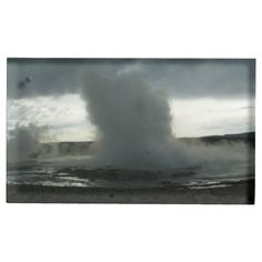Geyser in Yellowstone Park Table Card Holder