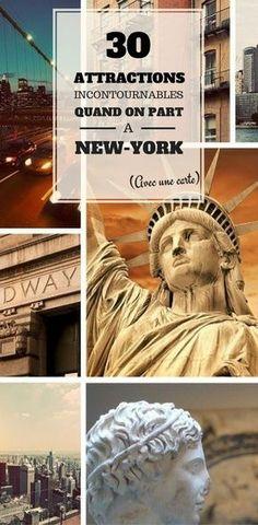 Vous recherchez peut-être les meilleures attractions à faire à New York ? Nous vous proposons cette infographie pour découvrir les attractions les plus populaires de NYC. Utilisez-la comme guide lors de votre déplacement sur New York !
