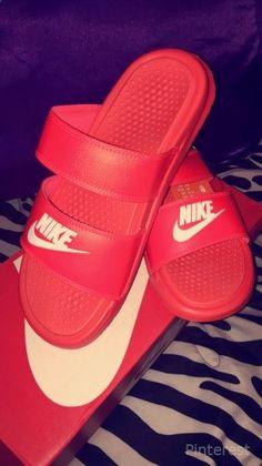 Sneakers Fashion, Fashion Shoes, Shoes Sneakers, Nike Benassi Duo, Nike Sandals, Nike Slides, Fresh Shoes, Hype Shoes, Sneaker Heels